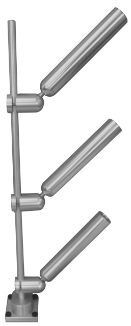PKTRE -TR/TS - Tree Mast MODEL With 3 ROD Fixed Angle Holders - Thumbscrew or Track Mount 2/19