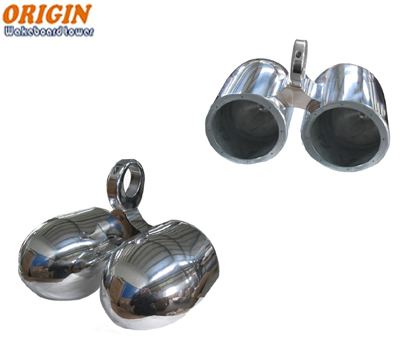 183/184 - Wakeboard Speakers 6 1/2in Twin Aluminum Bullet Polished or Black Coated Pods - Pair