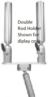 PKSGM-SS - Cisco - Single Rod Holder w/Cross Plate and Gimbal Mount/Locking Straight Slot -( Double Rod Holder Shown)