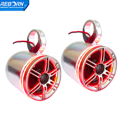 141 - One Pair of Reborn wakeboard speaker with LED light ring-Red. blue or green