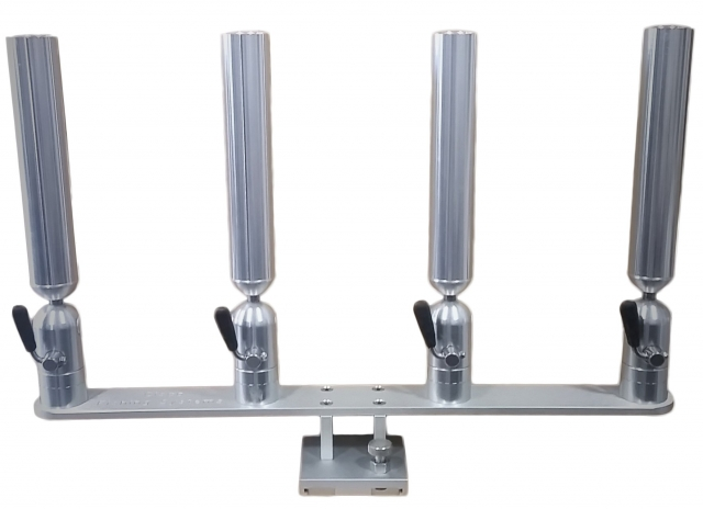 PKQRB-1 - Quad Rod Holder with Quick Release Base 2/16
