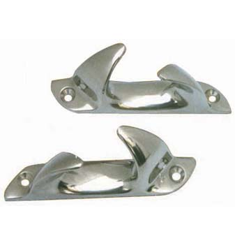 6054S - Skene Angled Bow Chocks 7 7/8 Stainless Steel  1/17